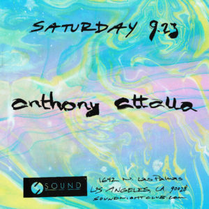 Sound presents Anthony Attalla Los Angeles 2017 flyer design suminagashi