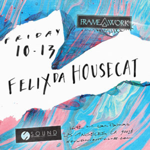 Felix Da Housecat flyer sound nightclub 2017 flyer design suminagashi marbling marble