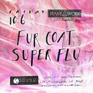 Fur Coat Super Flyer suminagashi design hand lettered flyer