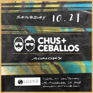 Chus & Ceballos at Sound Nightclub Framework 2017 suminagashi flyer design
