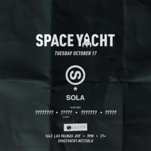 Space Yacht October 13