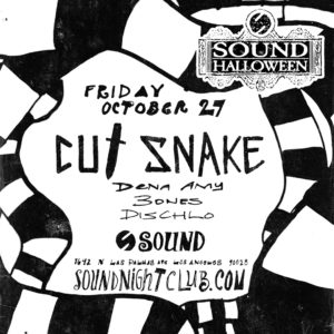 Cut Snake Sound Nightclub Halloween 2017 beetlejuice flyer design