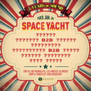 Space_Yacht Sound_Nightclub 2018 January