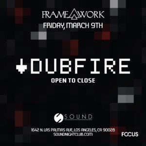 Dubfire Framework Sound_nightclub March 2018 Techno