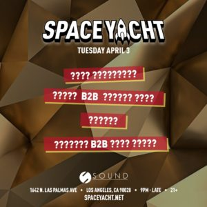 Space_Yacht Sound_Nightclub April 2018