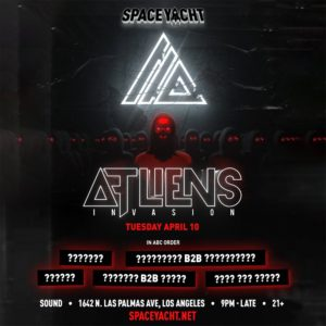 Space_Yacht ATLIENS Sound_Nightclub April 2018