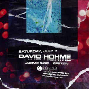 david hohme sound_nightclub july 2018