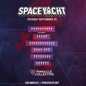 Space Yacht September Sound Nightclub 2018