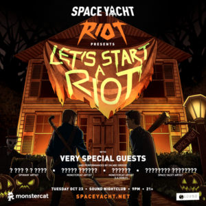 Space Yacht Riot October Sound Nightclub 2018