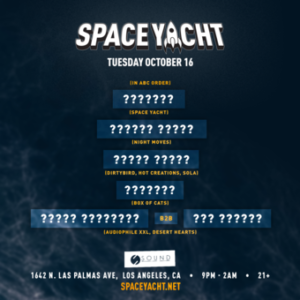 space yacht october 2018 sound nightclub
