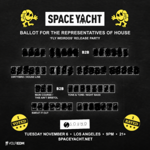 Space Yacht November 2018 Vote Sound Nightclub