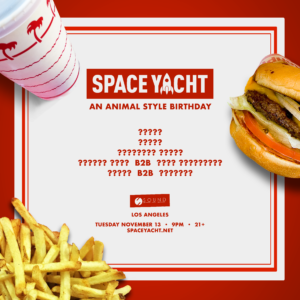 animal style space yacht november 2018