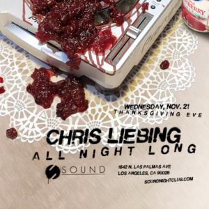 Chris Liebing Sound Nightclub All Night Long November 2018