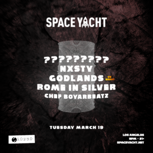 Space Yacht March 2019 Sound Nightclub