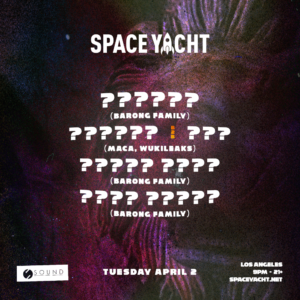 space yacht sound nightclub april 2019