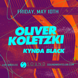 oliver koletzki kynda black may 10 sound nightclub
