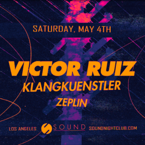 Victor Ruiz Klangkuenstler Zeplin Sound Nightclub 2019 May