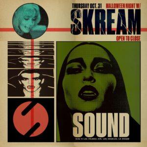 Skream Open to Close Sound Nightclub 2019 Halloween Night
