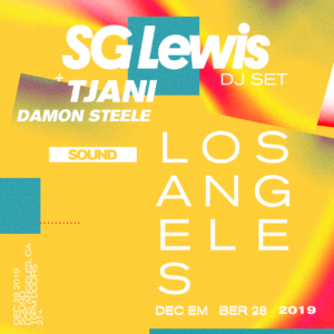 SG Lewis Tjani Damon Steele Sound Nightclub December 2019